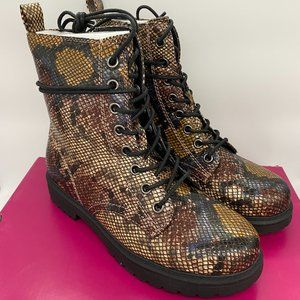 Women's SO Bowfin Combat Boots - Snake - 8.5